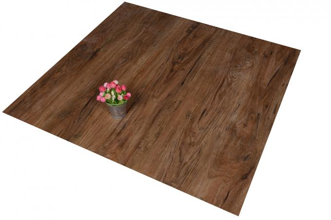 "Waterproof Wood Grain PVC Floor Tiles No - Wax 9""X48"" Installed With Glue 0"
