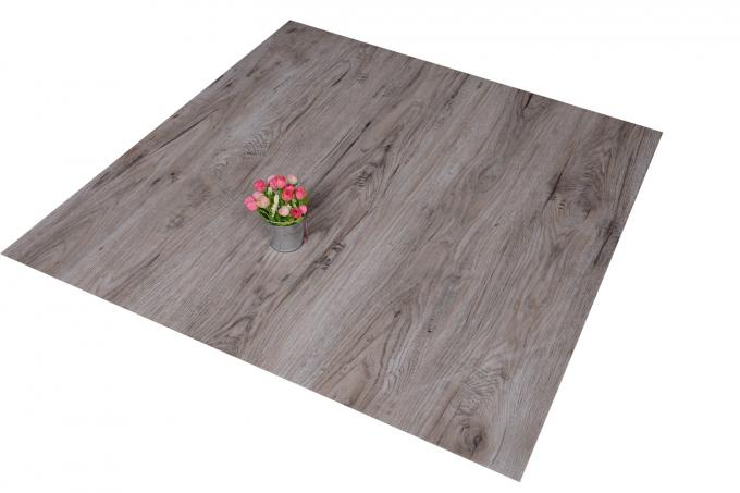 "Waterproof Wood Grain PVC Floor Tiles No - Wax 9""X48"" Installed With Glue 1"
