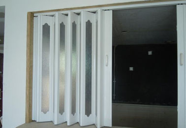 Çin Interior PVC Folding Door , Plastic Accordion Sliding Door 0.1-0.3 m / s Opening Speed Distribütör