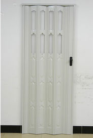 Çin Double Layer Panel PVC Folding Door 110mm Width Accordion Door With Lock Distribütör