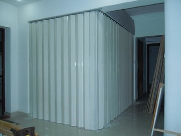Çin Washable PVC Folding Door Interior , Foldable Toilet Door Moisture Protection Distribütör
